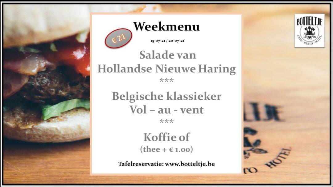 week menu cafe botteltje